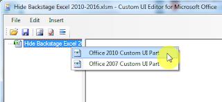 Cara Menyembunyikan Tampilan Office Backstage pada Excel