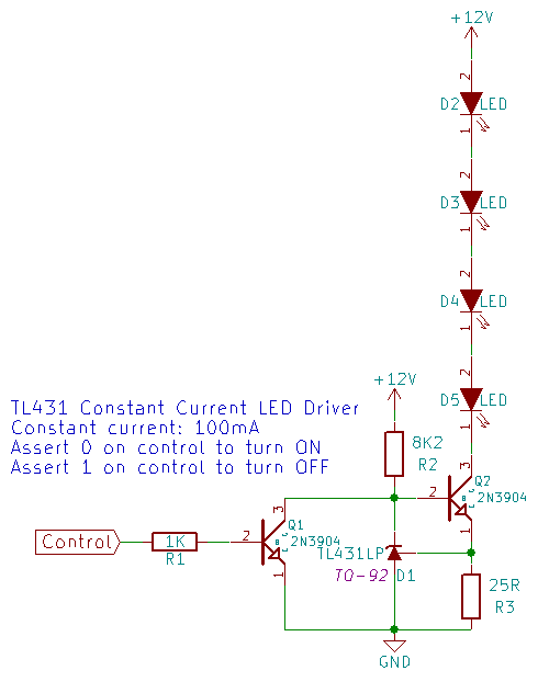 TL431 Constant Current LED Driver with control | Electronics and