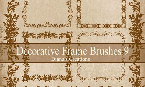 Brush Photoshop Bingkai Foto Undangan dan Sertifikat Gratis