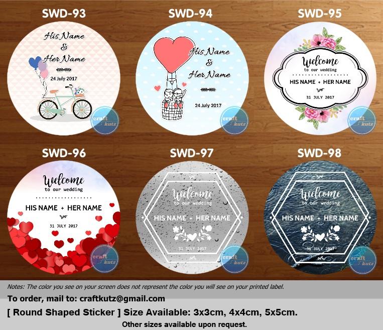 new wedding sticker series design template added craft kutz