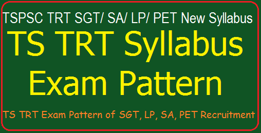 TS DSC/ TRT 2017 Exam Pattern, Syllabus of SGT/ SA/ Pandits/ PET Recruitment