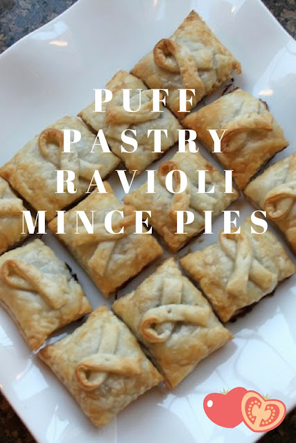 Food Lust People Love: Puff Pastry Ravioli Mince Pies uses a ravioli plaque to make mini mincemeat pies out of filling and puff pastry. Easy and adorable square pies!