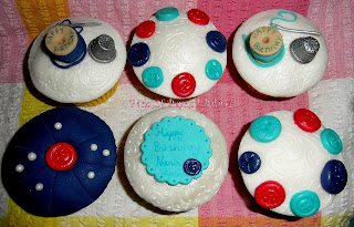 red and blue themed cupcakes