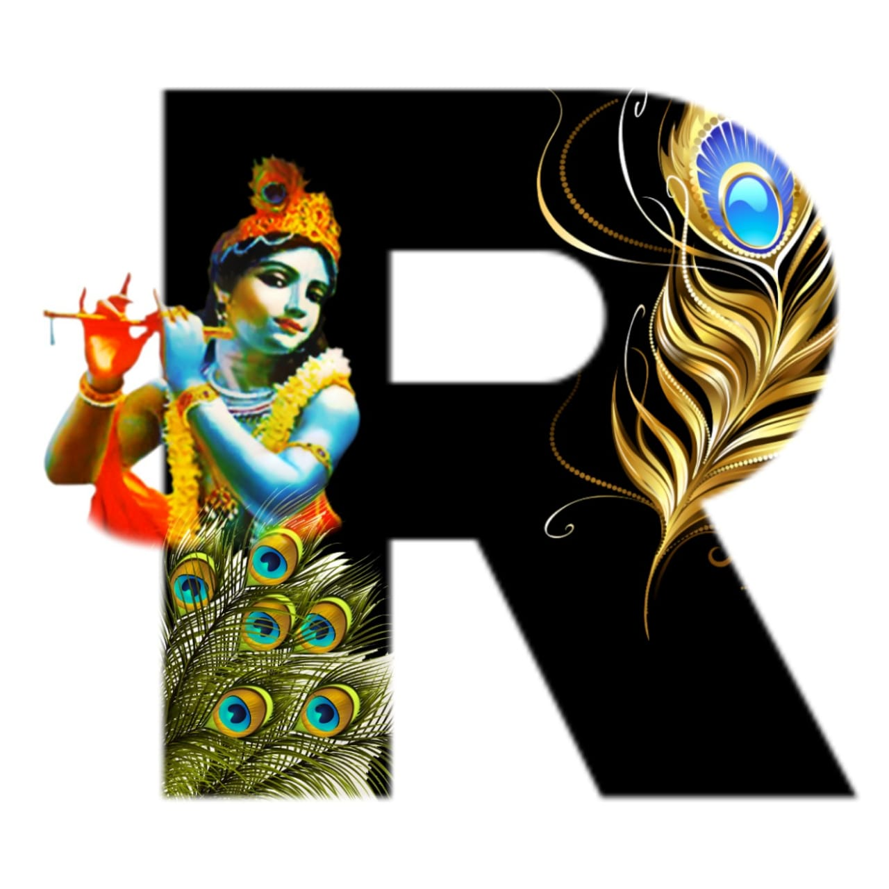 shree krishna alphabet r images