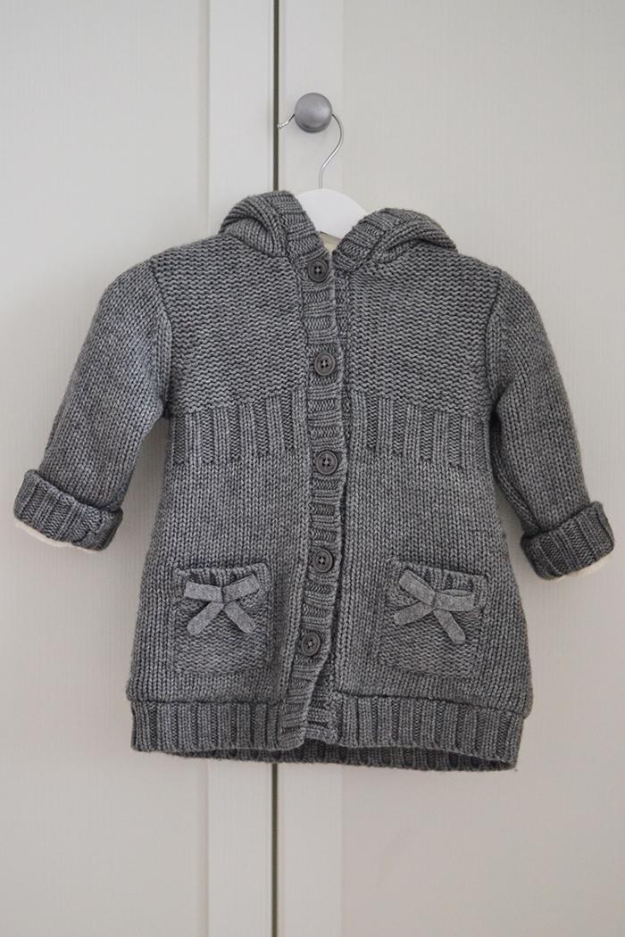 cappotto maglia bebé