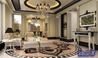 art deco style, art deco interior design, art deco home decor with false ceiling design