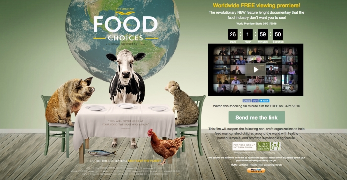 Cartaz do documentário Food Choices
