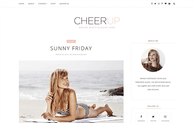 CheerUp Minimal & Responsive Blogger Template