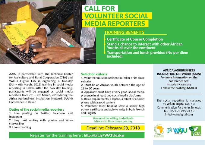 CALL FOR VOLUNTEERS: SOCIAL MEDIA REPORTERS FOR WEST AFRICANS