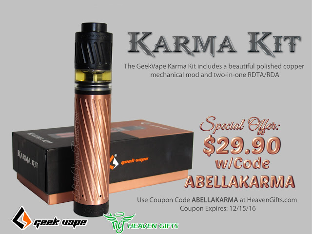 GeekVape Karma $29.90 w/code ABELLAKARMA
