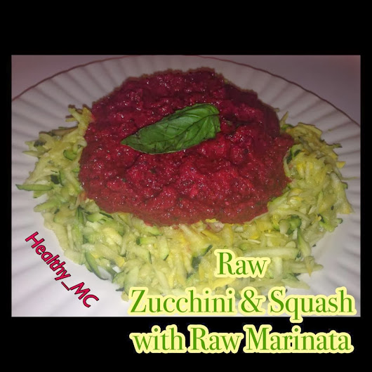 RAW ZUCCHINI & SQUASH WITH RAW MARINATA SAUCE