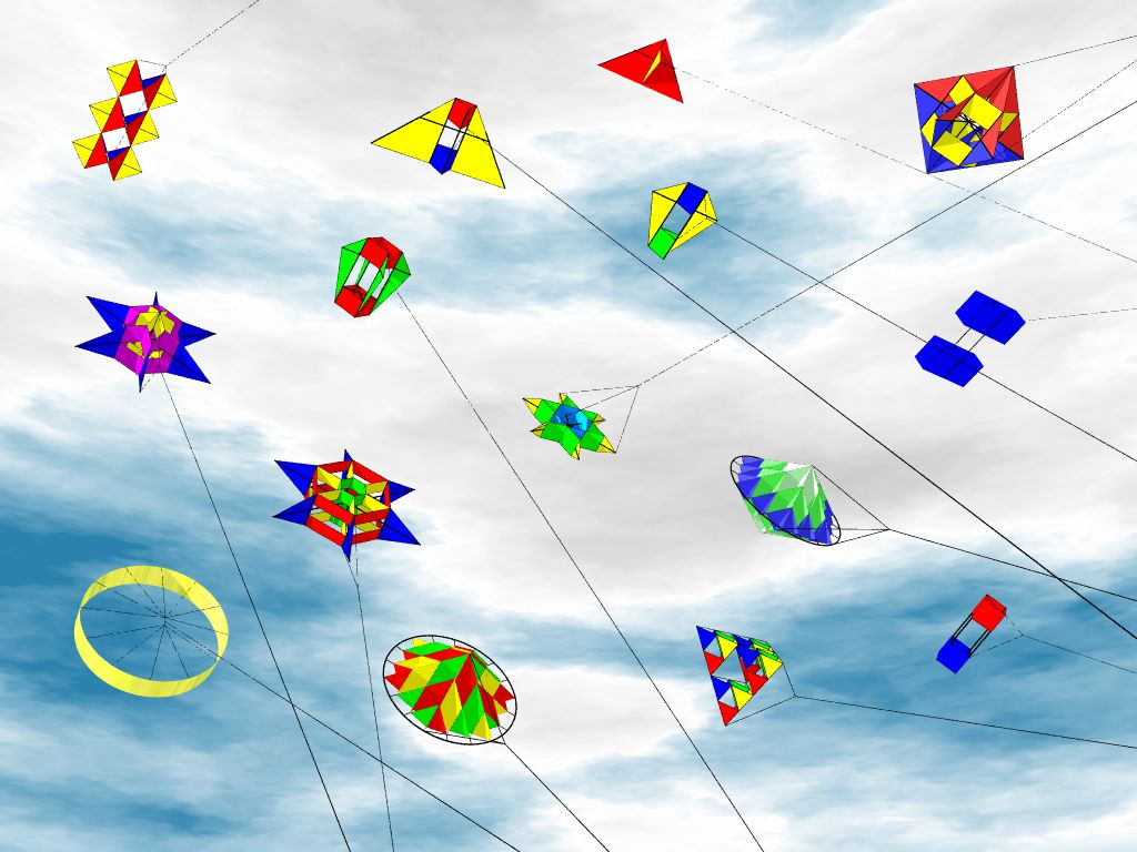 Free Download Wallpaper HD : kites in the sky flying ...