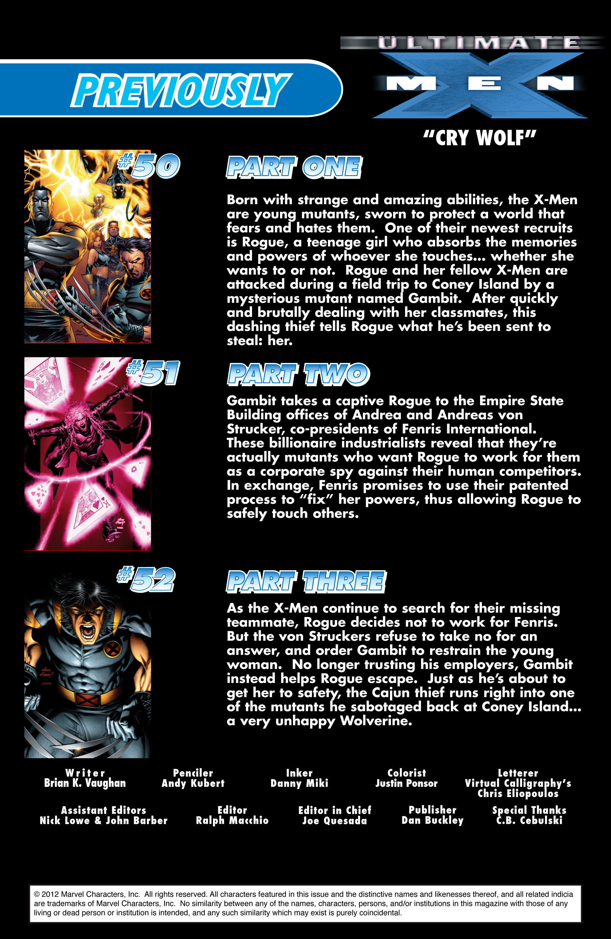 Read online Ultimate X-Men comic -  Issue #53 - 2