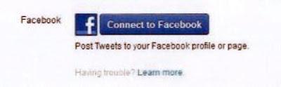 menghubungkan akun twitter ke facebook 2