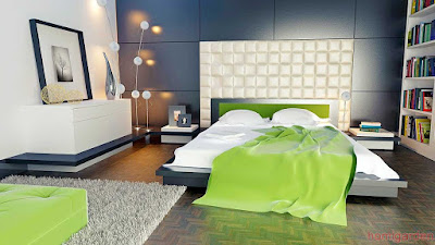 Modern Bedroom Decoration With Japanese Style Wardrobe