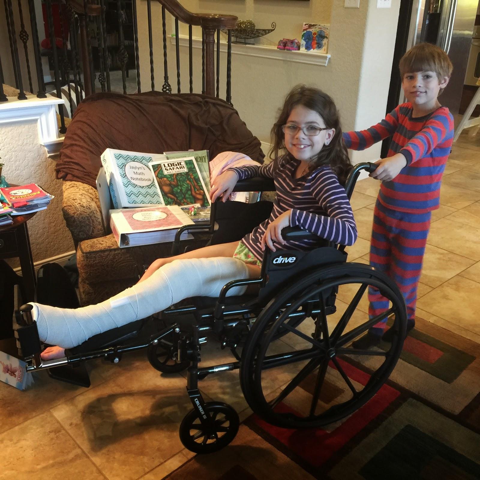 The Broken Leg Homeschool Life Lextin Eclectic