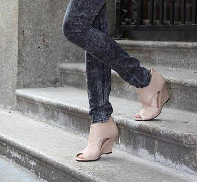 platform topuk ayakkabı,tasarım ayakkabı,krem ayakkabı,japon style ayakkabı