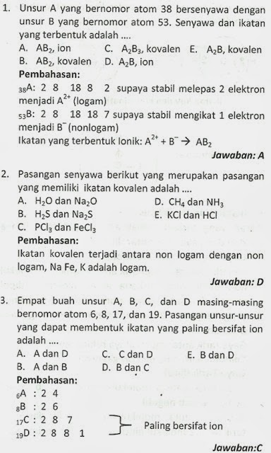 Contoh Soal Kimia : contoh, kimia, Kimia, Kelas, Semester