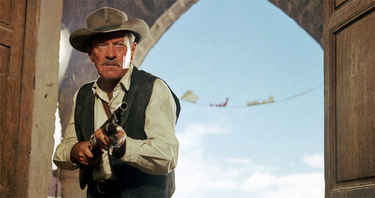 Robert Ryan in THE WILD BUNCH (Sam Peckinpah, 1969). Quelle: Warner Blu-ray Screenshot (bearbeitet)