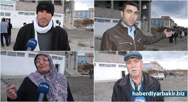 DİYARBAKIR-Diyarbakır'da Gazi Yaşargil Eğitim ve Araştırma Hastanesine halk otobüsleriyle gelen ve hastaneden çıkarak otobüse binmek isteyen hasta ile hasta yakınları; taş, çakıl, kum ve çamurlu yoldan geçmek zorunda kalıyorlar.