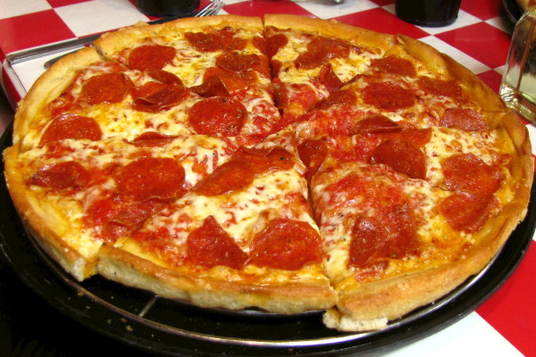 photo of pepperoni pizza from Prince Pizzeria, Saugus, MA