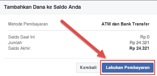 Belajar Facebook Ads Cara Mengisi Saldo Akun Facebook Ads