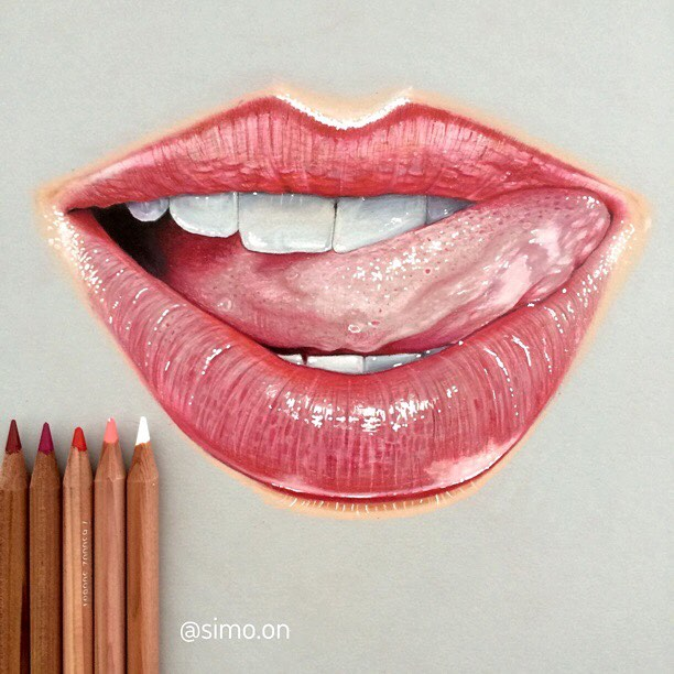 07-Tasty-Lips-Simon-Balzat-Colored-Pencils-make-Beautiful-Drawings-www-designstack-co