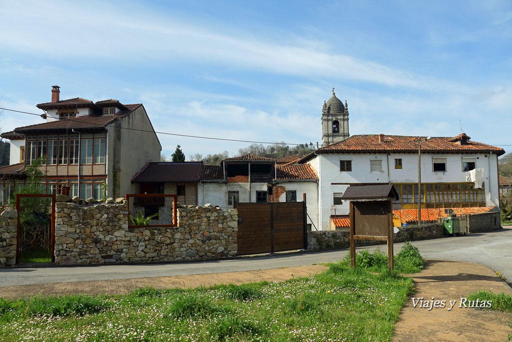 Villamayor, comienzo de Ruta del Chorrón