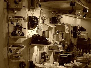 Coleção de Telefones Antigos do Restaurante da Recoleta