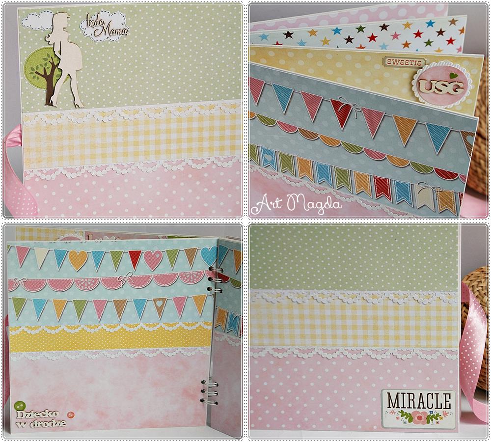 album ciążowy, pamiętnik ciąży, ręcznie robiony, handmade, ArtMagda