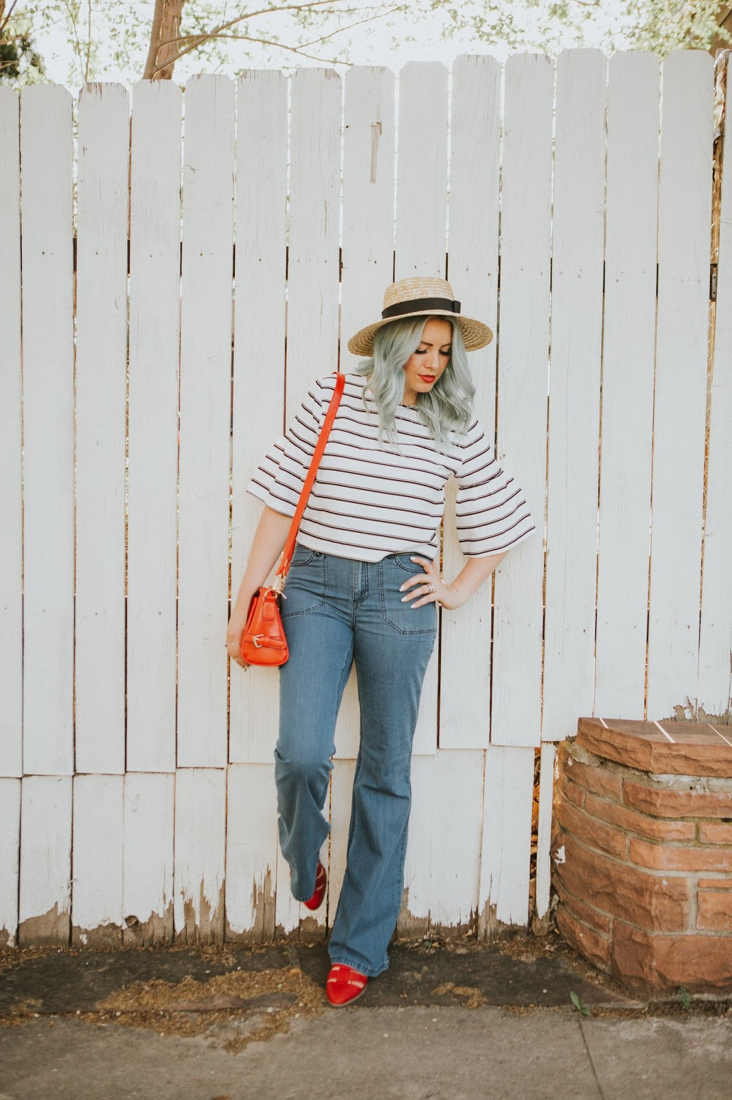 Nautical outfit, Utah Fashion Blogger, Stripes