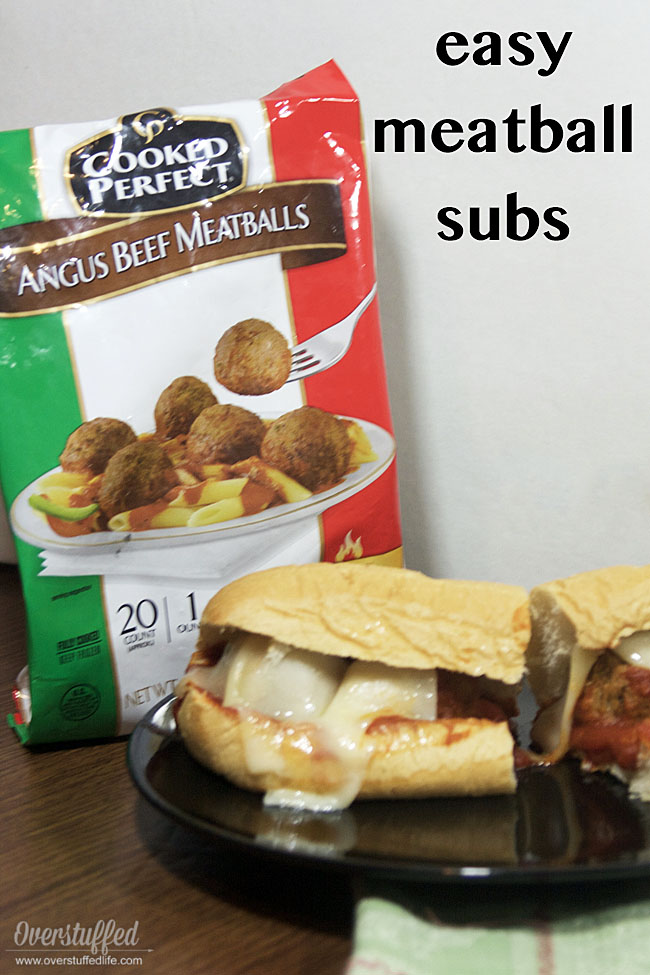 These easy meatball sub sandwiches made with Cooked Perfect brand meatballs are perfect for busy days. The kids will love them and dinner will be quick.