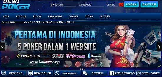 Dewipoker Agen Judi Online Poker Online DominoQQ Bandar Ceme Online Terpercaya di Indonesia