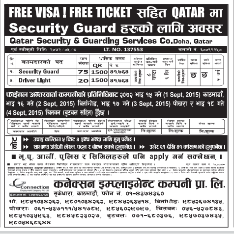 Free VISA FREE TICKET JOBS IN QATAR, SALARY RS 41,764