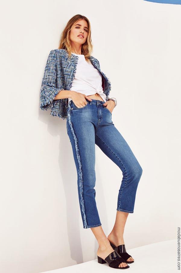 Moda jeans primavera verano 2019. Ropa de mujer 2019 │ Moda primavera verano 2019.