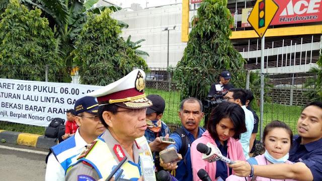 Polisi Belum Lakukan Tilang di Hari Pertama Penerapan Ganjil-Genap Tol Bekasi