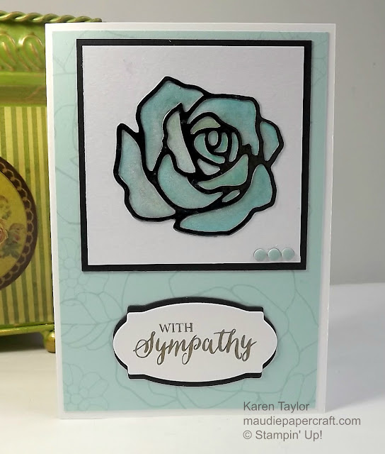 Stampin' Up! Rose garden thinlits with rose wonder stamp set