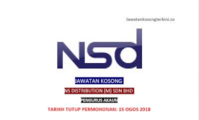 Jawatan Kosong NS Distribution (M) Sdn Bhd 2018