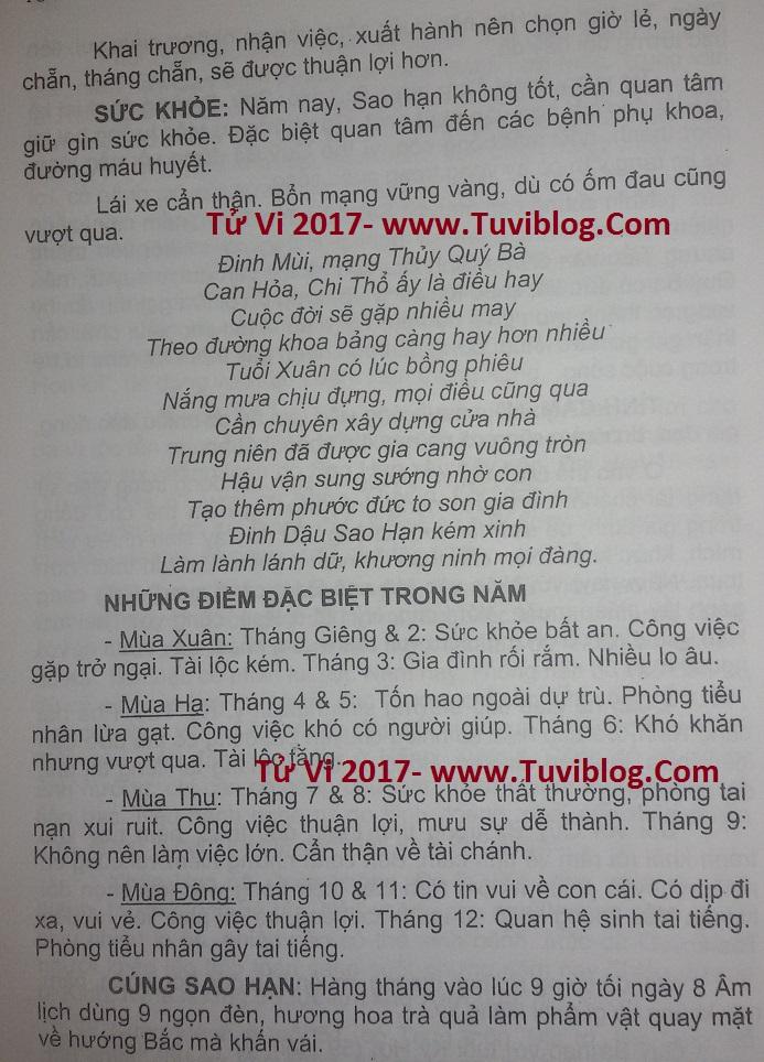 Tu vi DInh Mui 1967 nam 2017 nam