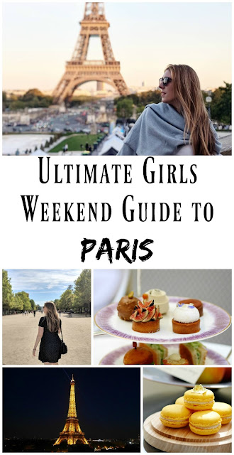 PIN FOR LATER: Ultimate Girls Weekend Guide to Paris! Discover the very best things to do in the city of love with your girlfriends, from afternoon tea to wandering the Champs Elysees and seeing the Eiffel Tower at sunset!
