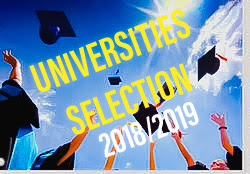 CLICK HERE FOR SELECTIONS OF UNIVERSITIES ACADEMIC YEAR 2018/2019