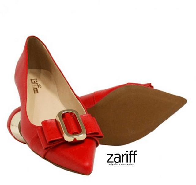 Sapato Zariff Shoes Scarpin Laço Metal