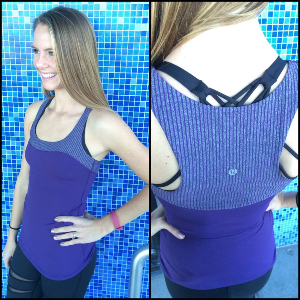 lululemon going-grape first base tank