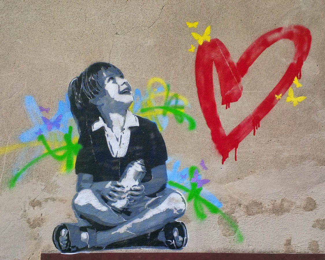 Beautiful Graffiti in Arqua Petrarca, Veneto, Italy