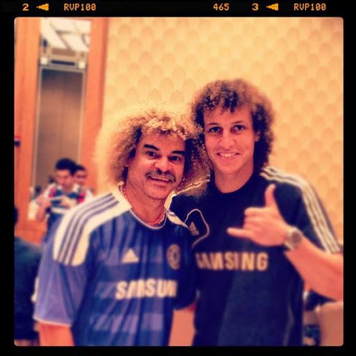 David Luiz meets Carlos Valderrama