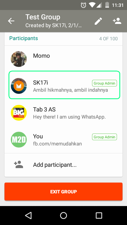 Group Admin WhatsApp