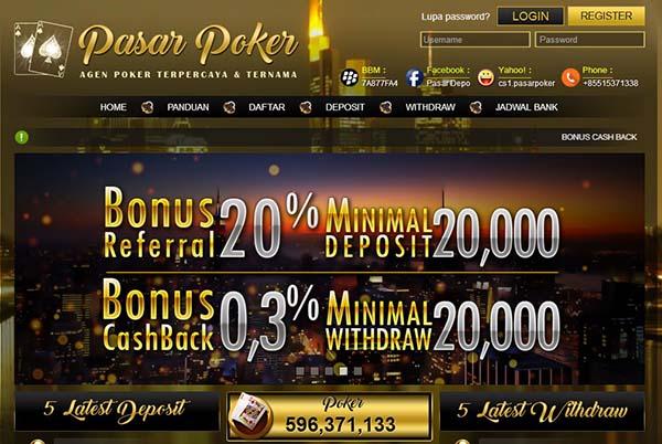 PasarPoker Situs Judi Poker, DominoQQ & BandarQ Terpercaya