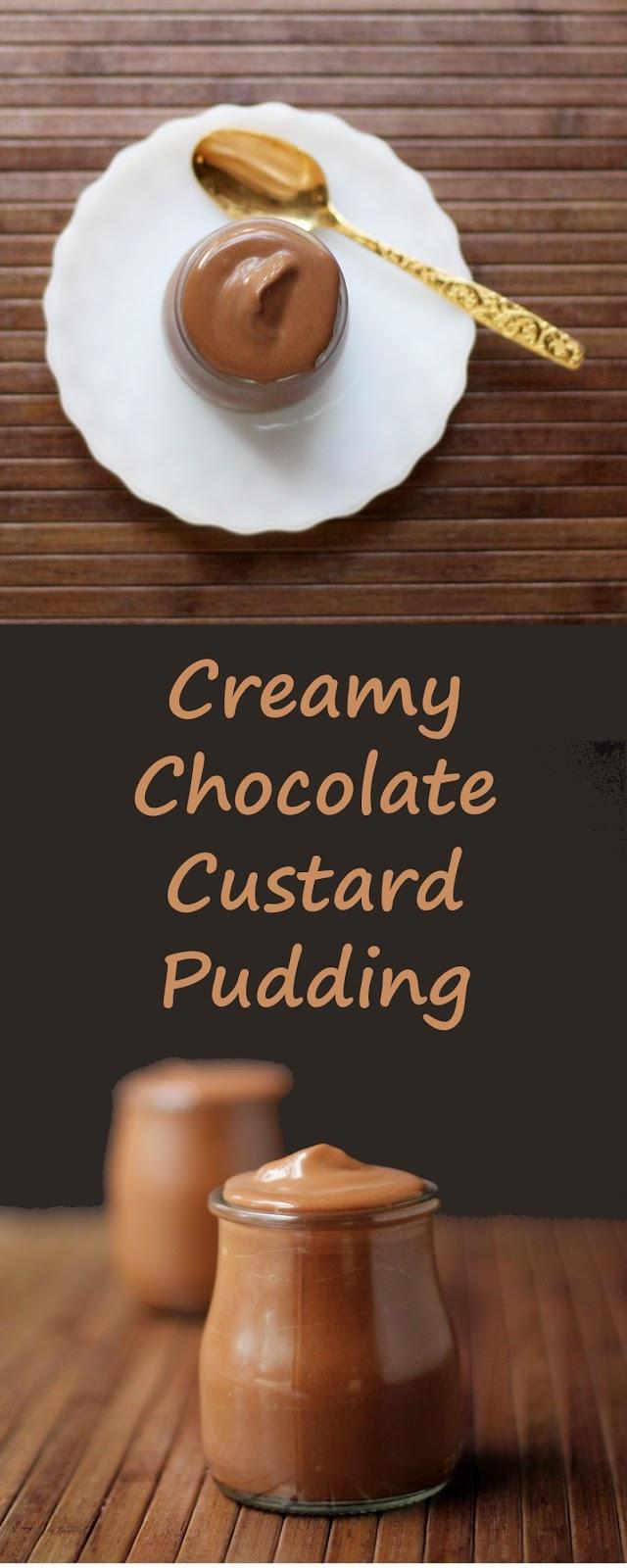 Chocolate custard pudding - the ultimate comfort food dessert.