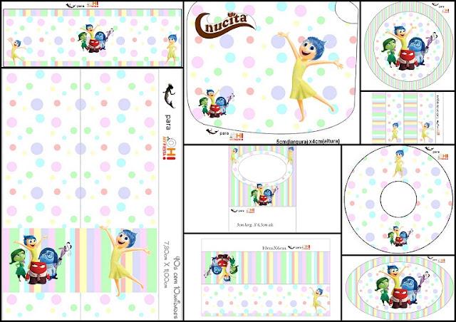 Del Revés, Intensamente o Inside Out: Etiquetas para Candy Bar para ...