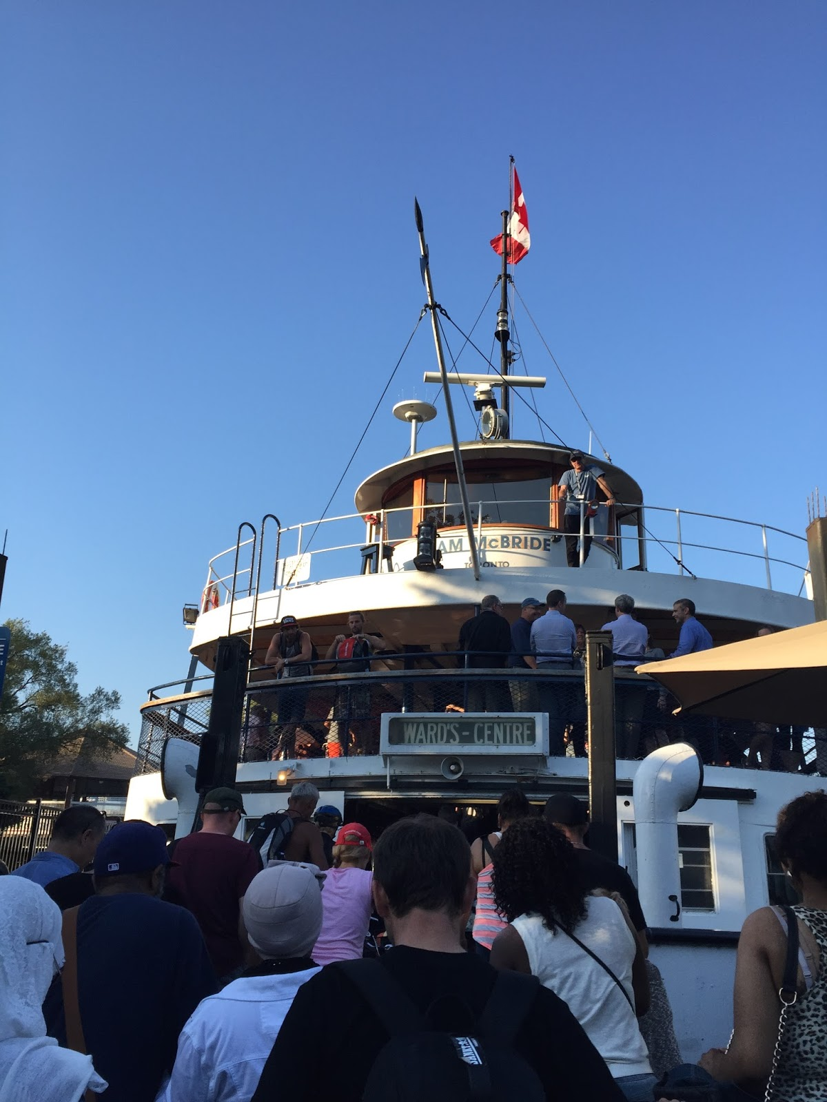 Boarding the ferry, Toronto Island, photo by modernbricabrac